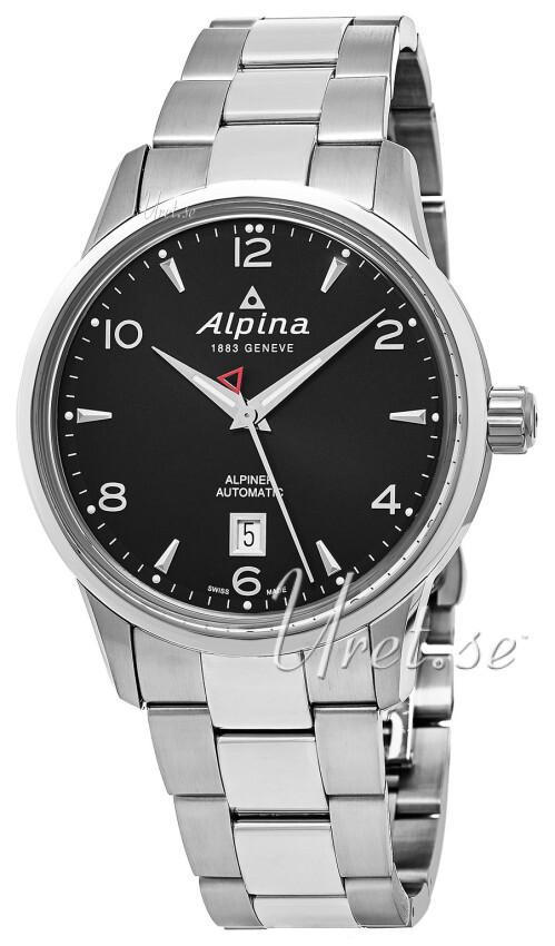 Bilde av Alpina Alpiner Herreklokke Al-525b4e6b Sort/stål Ø41.5 Mm
