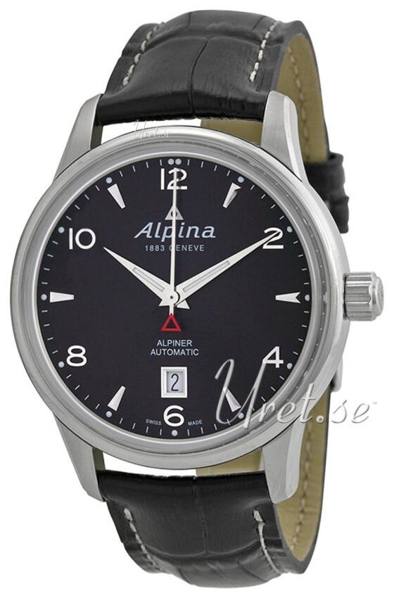 Bilde av Alpina Alpiner Herreklokke Al-525b4e6 Sort/lær Ø41.5 Mm