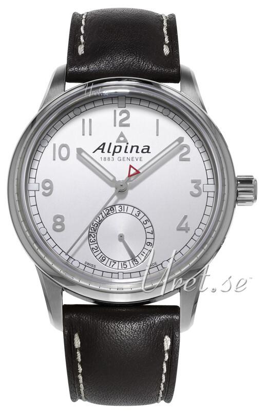 Bilde av Alpina Alpiner Herreklokke Al-710s4e6 Sølvfarget/lær Ø41.5 Mm