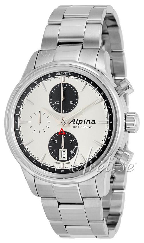 Alpina Alpiner Herreklokke AL-750SG4E6B Sølvfarget/Stål Ø41.5 mm - Alpina