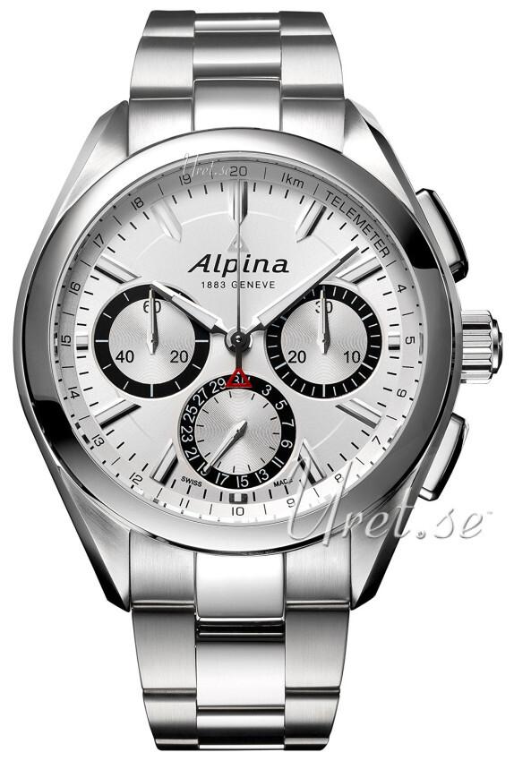 Bilde av Alpina Alpiner Herreklokke Al-760sb5aq6b Sølvfarget/stål Ø44 Mm