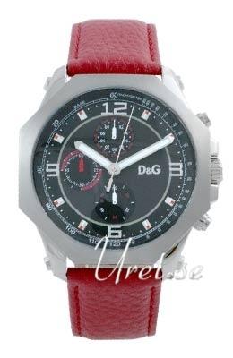 Dolce & Gabbana D&G Herreklokke DW0103 Sort/Lær Ø45 mm - Dolce & Gabbana D&G