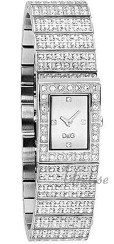Dolce & Gabbana D&G Dameklokke DW0328 Sølvfarget/Stål 19x13 - Dolce & Gabbana D&G