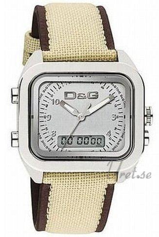 Dolce & Gabbana D&G Herreklokke DW0298 Sølvfarget/Tekstil - Dolce & Gabbana D&G