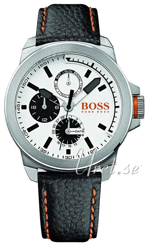 Hugo Boss New York Herreklokke 1513154 Hvit/Lær Ø44 mm - Hugo Boss