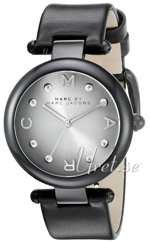 Marc by Marc Jacobs 99999 Dameklokke MJ1410 Sølvfarget/Lær Ø34 mm - Marc by Marc Jacobs
