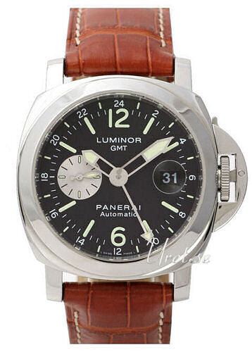 Panerai Contemporary Luminor GMT Herreklokke PAM 088 Sort/Lær Ø44 mm - Panerai