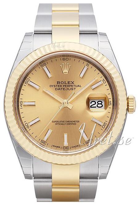 Rolex Datejust41 Herreklokke 126333-0009 Gulltonet/18 karat gult gull - Rolex