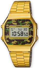 Casio Casio Collection LCD/Gulltonet stål 36.3x38.6 mm A168WEGC-3EF