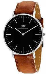 Daniel Wellington Classic Black Durham Sort/Lær Ø40 mm DW00100132