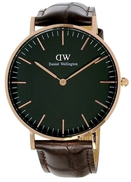 Daniel Wellington Classic Black York Sort/Lær Ø36 mm DW00100140