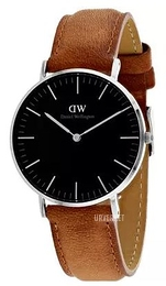 Daniel Wellington Classic Black Durham Sort/Lær Ø36 mm DW00100144