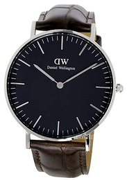 Daniel Wellington Classic Black York Sort/Lær Ø36 mm DW00100146