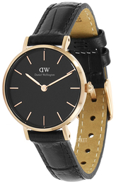 Daniel Wellington Classic Petite Reading Sort/Lær Ø28 mm DW00100223