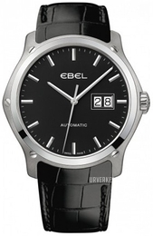 Ebel Classic Hexagon Sort/Lær Ø41 mm 1216008