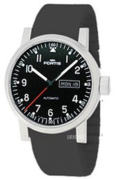 Fortis Spacematic Sort/Gummi Ø40 mm 623.10.71.Si01