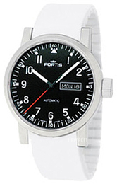 Fortis Spacematic Sort/Gummi Ø40 mm 623.10.71.Si02
