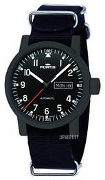Fortis Spacematic Sort/Tekstil Ø40 mm 623.18.71.N01