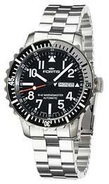 Fortis B-42 Marinemaster Sort/Stål Ø42 mm 670.17.41.M