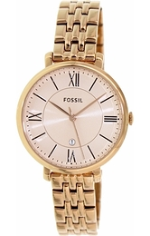 Fossil Dress Gullfarget/Rose-gulltonet stål Ø36 mm ES3435