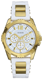 Guess Dress Hvit/Gulltonet stål Ø40 mm W0325L2