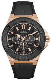 Guess Force Sort/Lær Ø44 mm W0674G6