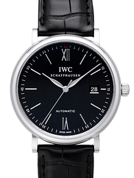 IWC Portofino Sort/Lær Ø40 mm IW356502