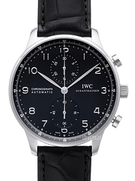 IWC Portuguese Sort/Lær Ø40.9 mm IW371447
