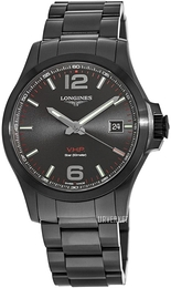 Longines Conquest Sort/Stål Ø41 mm L3.716.2.56.6