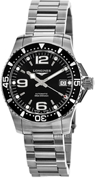 Longines Hydroconquest Sort/Stål Ø39 mm L3.741.4.56.6