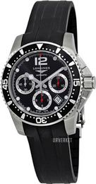 Longines HydroConquest Sort/Gummi Ø41 mm L3.744.4.56.2