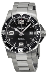 Longines Hydroconquest Sort/Stål Ø41 mm L3.742.4.56.6