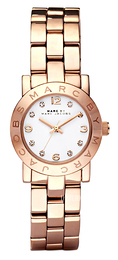 Marc by Marc Jacobs Amy Hvit/Rose-gulltonet stål Ø26 mm MBM3078