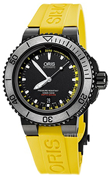 Oris Diving Sort/Gummi Ø46 mm 01 733 7675 4754-Set RS