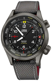 Oris Aviation Sort/Lær Ø47 mm 01 733 7705 4264-Set5 23 16GFC