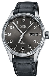Oris Aviation Grå/Lær Ø45 mm 01 752 7698 4063-07 5 22 06FC
