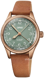 Oris Aviation Grønn/Lær Ø36 mm 01 754 7749 3167-07 5 17 66BR