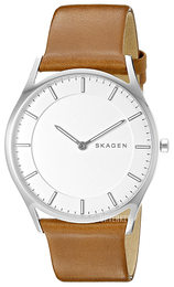 Skagen Holst Hvit/Lær Ø40 mm SKW6219