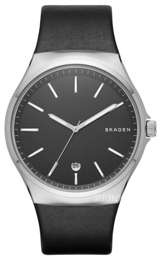 Skagen Sundby Sort/Lær Ø42 mm SKW6260