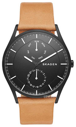 Skagen Holst Sort/Lær Ø40 mm SKW6265