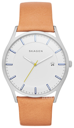 Skagen Holst Hvit/Lær Ø40 mm SKW6282