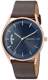 Skagen Holst Blå/Lær Ø40 mm SKW6395
