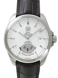 TAG Heuer Grand Carrera Calibre 6RS Automatic Sølvfarget/Lær Ø40.2 mm WAV511B.FC6230