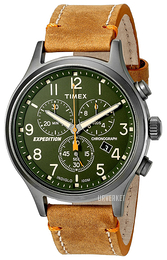 Timex Expedition Grønn/Lær Ø42 mm TW4B04400