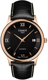 Tissot T-Gold Sort/Lær Ø39 mm T914.407.76.058.00