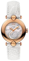 Tissot T-Gold Pretty Hvit/Lær Ø37.6 mm T918.210.76.116.01