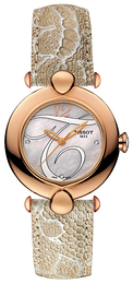 Tissot T-Gold Pretty Hvit/Lær Ø37.6 mm T918.210.76.116.02