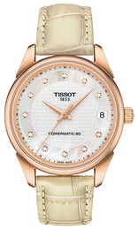 Tissot Vintage Powermatic 80 Lady Hvit/Lær Ø33 mm T920.207.76.116.00