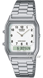 Casio Casio Collection Hvit/Stål 38.8x27.8 mm AQ-230A-7BMQYES