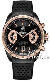 TAG Heuer Grand Carrera Sort/Gummi Ø43 mm CAV518E.FT6016
